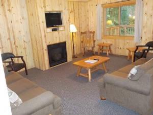 Cabin 18 details for Living room north end