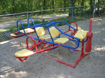 For Kids 70 lbs or less - 6 kids can ride this teeter totter at one time!
